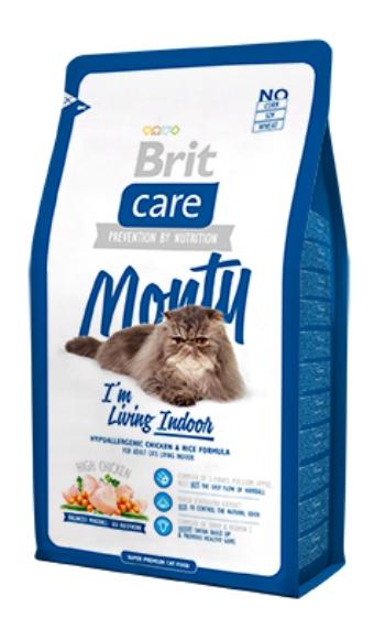 Brit Care Cat Monty сухой корм для домашних кошек с курицей