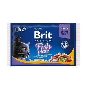 "Brit Premium Fish Plate набор паучей для кошек ""Рыбная тарелка"""