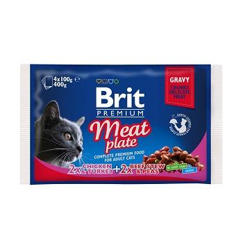 "Brit Premium Meat Plate набор паучей для кошек ""Мясная тарелка"""