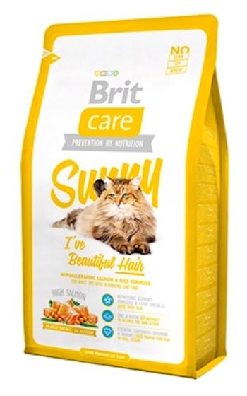 Brit Care Cat Sunny сухой корм для кошек для ухода за кожей и шерстью с лососем