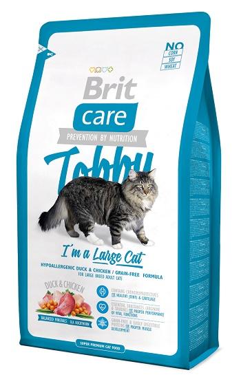 Brit Care Cat Tobby сухой корм для крупных кошек с уткой
