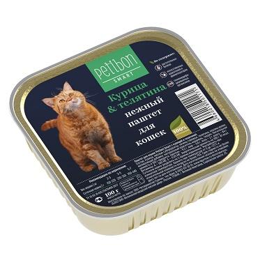 Petibon Smart паштет для кошек с курицей и телятиной
