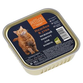 Petibon Smart паштет для кошек с индейкой и уткой