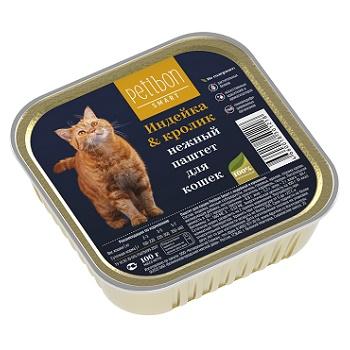 Petibon Smart паштет для кошек с индейкой и кроликом
