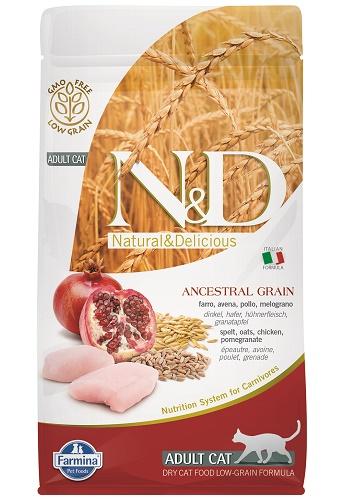 Farmina N&D Low Grain Adult сухой корм для кошек с курицей и гранатом