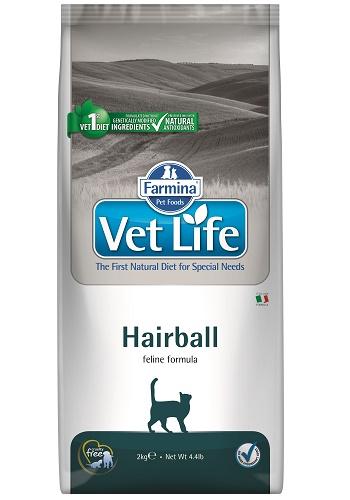 Farmina Vet Life Hairball диета для кошек для выведения комков шерсти