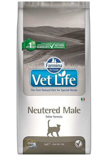 Farmina Vet Life Neutered Male диета для кастрированных котов