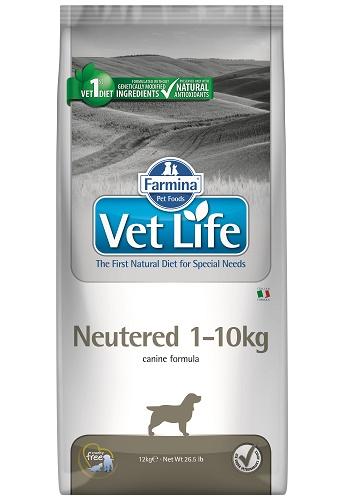 Farmina Vet Life Neutered 1-10kg диета для стерилизованных собак мелких пород