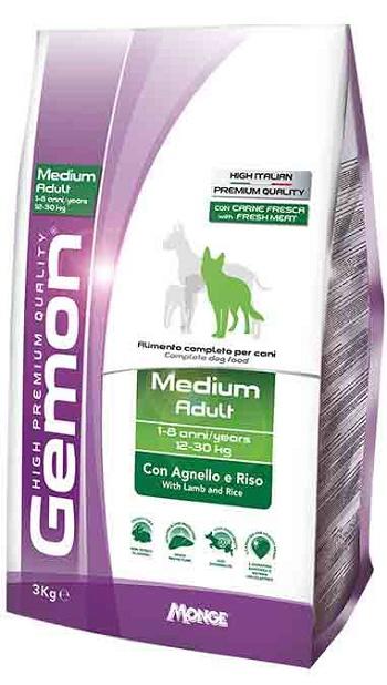 Gemon Adult Medium сухой корм для взрослых собак средних пород с ягненком