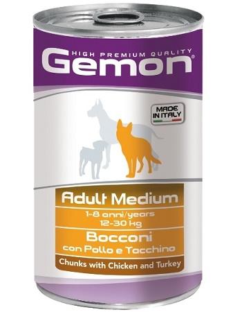 Gemon Adult Medium консервы для собак средних пород с курицей