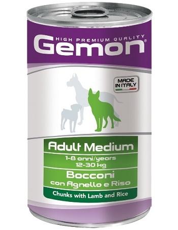 Gemon Adult Medium консервы для собак средних пород с ягненком