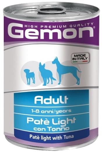 Gemon Adult Light консервы для взрослых собак с тунцом
