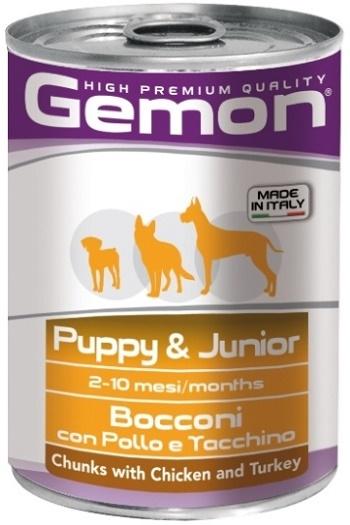 Gemon Puppy & Junior консервы для щенков с курицей и индейкой