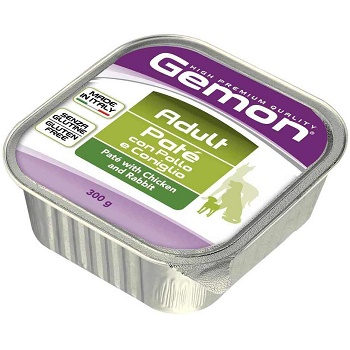 Gemon Adult консервы для взрослых собак с курицей и кроликом