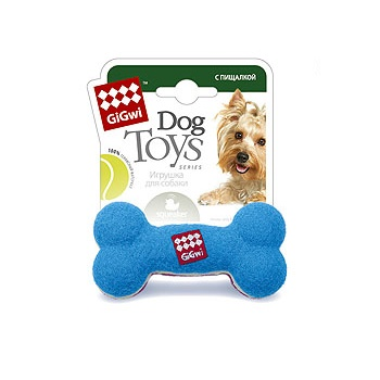 GiGwi игрушка для собак Кость малая с пищалкой 11 см (75002)