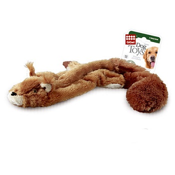 GiGwi игрушка для собак Белка с 2-мя пищалками 61 см (75012)