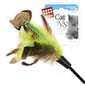 GiGwi игрушка для кошек Дразнилка на длинном стеке 75 см (75017)