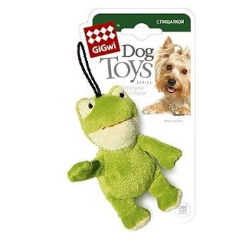 GiGwi игрушка для собак Лягушка с пищалкой 10 см (75022)