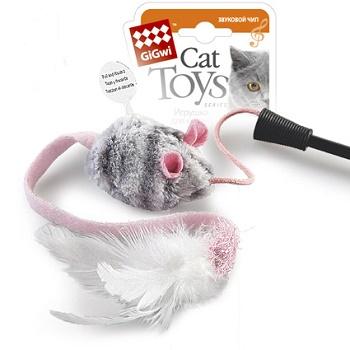 GiGwi игрушка для кошек Дразнилка со звуковым чипом 51 см (75111)