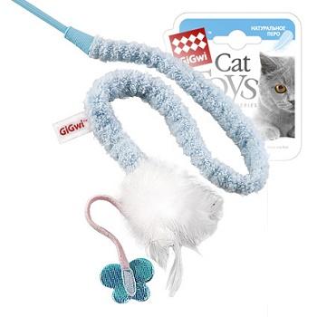 GiGwi игрушка для кошек Дразнилка на стеке с пером 73 см (75112)