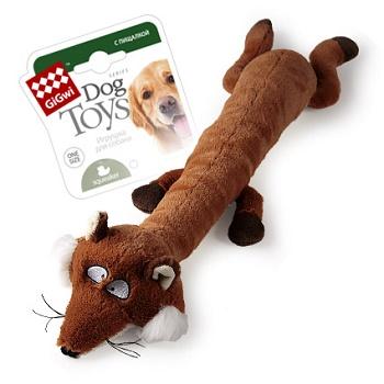 GiGwi игрушка для собак Лиса с большой пищалкой 63 см (75231)
