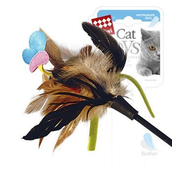 GiGwi игрушка для кошек Дразнилка на стеке с бабочкой 51 см (75242)
