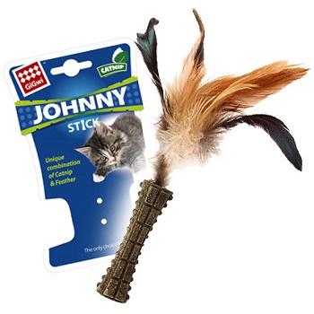 GiGwi игрушка для кошек Johnny Stick прессованная кошачья мята 8 см (75334)
