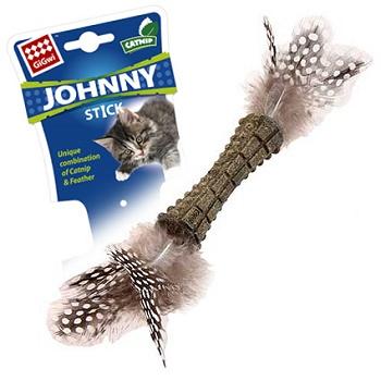 GiGwi игрушка для кошек Johnny Stick прессованная кошачья мята 8 см (75335)