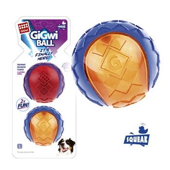 GiGwi игрушка для собак G-Ball мяч с пищалкой 8 см (2 шт.) (75336)