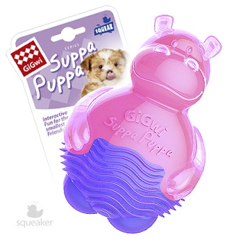 GiGwi игрушка для собак Бегемот с пищалкой 10 см (75425)
