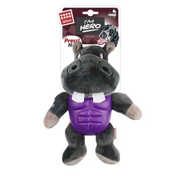 GiGwi игрушка для собак Бегемот с пищалкой 20 см (75452)
