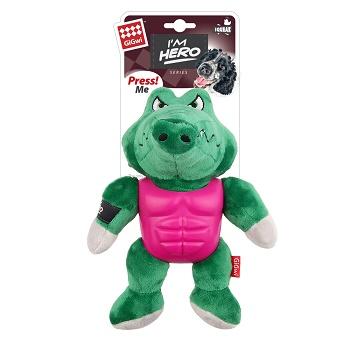 GiGwi игрушка для собак Крокодил с пищалкой 21 см (75453)