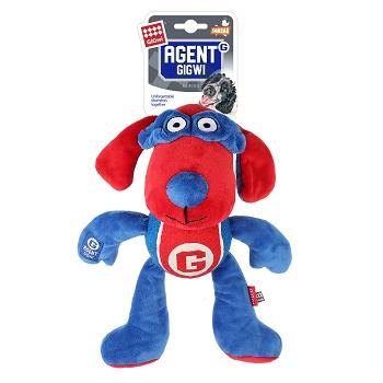 GiGwi игрушка для собак Собака с теннисным мячом и пищалкой 28 см (75465)