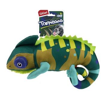 GiGwi игрушка для собак Хамелеон с пищалкой 26 см (75503)