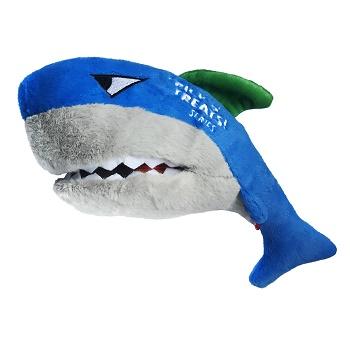 GiGwi игрушка для собак Акула под лакомства с пищалкой 30 см (75524)