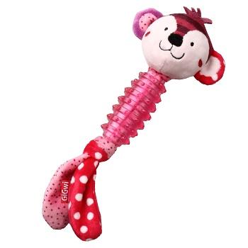 GiGwi игрушка для собак Обезьяна с пищалкой (75530)