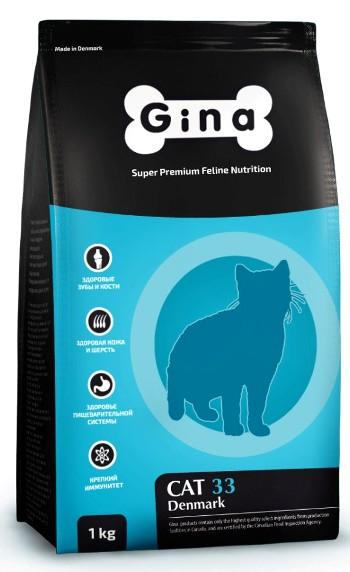 Gina Cat 33 Active сухой корм для активных и выставочных кошек SALE