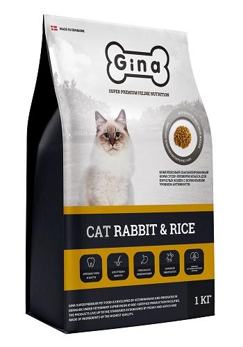 Gina Cat Rabbit & Rice сухой корм для взрослых кошек