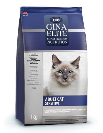 Gina Elite Adult Cat Sensitive сухой корм для взрослых кошек