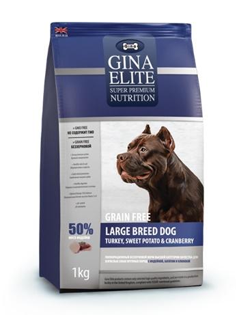 Gina Elite Adult Large Breed Grain Free беззерновой сухой корм для взрослых собак крупных пород