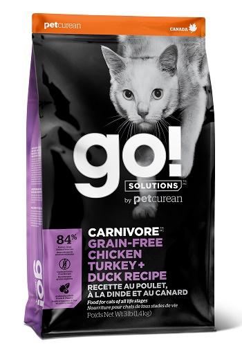 GO Solutions Carnivore сухой беззерновой корм для кошек и котят 4 вида мяса