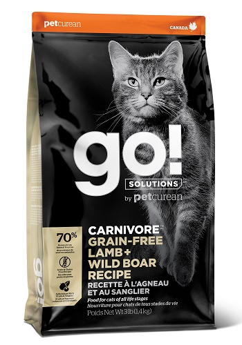 GO Solutions Carnivore Lamb & Wild Boar сухой беззерновой корм для кошек и котят с ягненком и кабаном