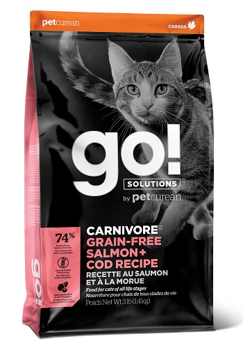 GO Solutions Carnivore Salmon & Cod сухой беззерновой корм для кошек и котят с лососем и треской