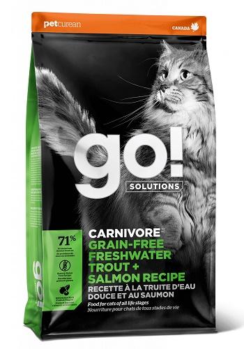 GO Solutions Carnivore Trout & Salmon сухой беззерновой корм для кошек и котят с форелью и лососем