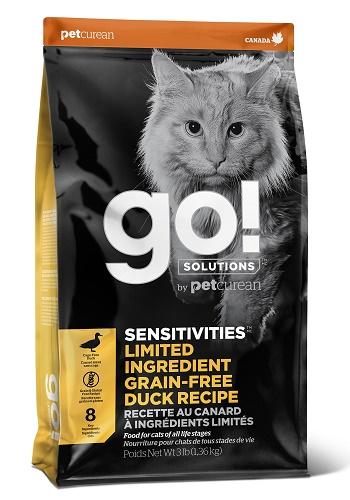 GO Solutions Sensitivities LID сухой корм для кошек с чувствительным пищеварением с уткой