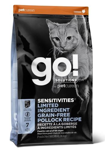 GO Solutions Sensitivities LID сухой корм для кошек с чувствительным пищеварением с минтаем