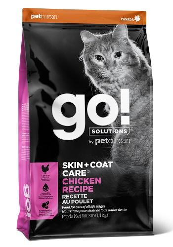 GO Solutions SkinCoat Care сухой корм для кошек и котят с курицей
