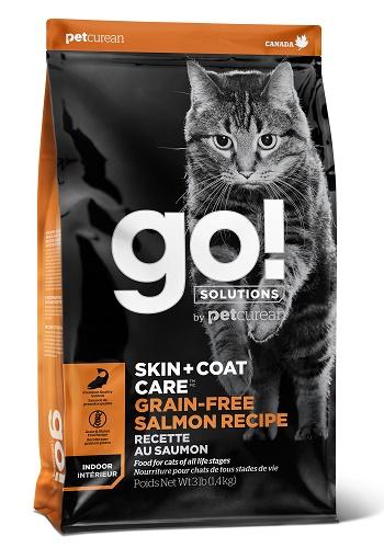 GO Solutions SkinCoat Care GF сухой беззерновой корм для кошек и котят с лососем
