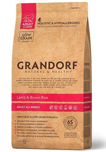 Grandorf Adult All Breeds Lamb & Rice сухой корм для взрослых собак всех пород
