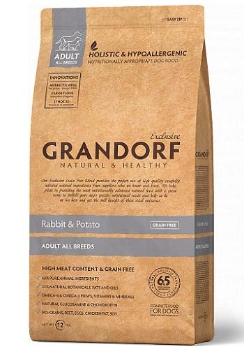 Grandorf Adult All Breeds Rabbit & Potato сухой корм для взрослых собак всех пород беззерновой